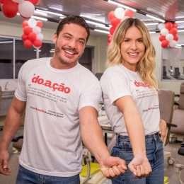 Wesley Safadão e Thyane Dantas participam de campanha para doação de sangue