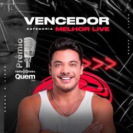 Wesley Safadão vence prêmio de Melhor Live